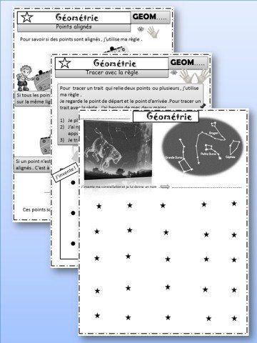 GEOMETRIE : Tracés à la règle - Points et lignes | Trucs et astuces pour l'ergothérapie ...