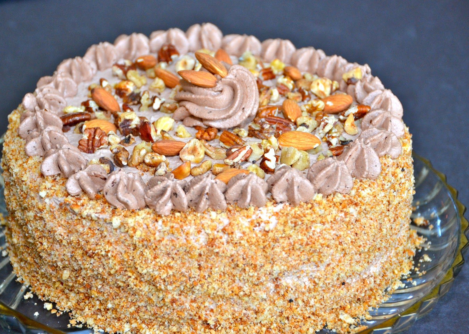 Squirrel Cake with nuts - Delights Of Culinaria