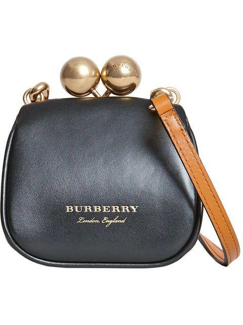 5eb16dc56ecb Shop Burberry mini metal frame clutch bag.