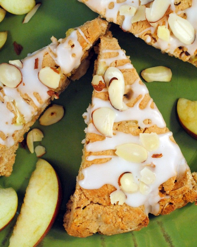 Almond Oatmeal Apple Scones Are Stuffed With Fresh Apples