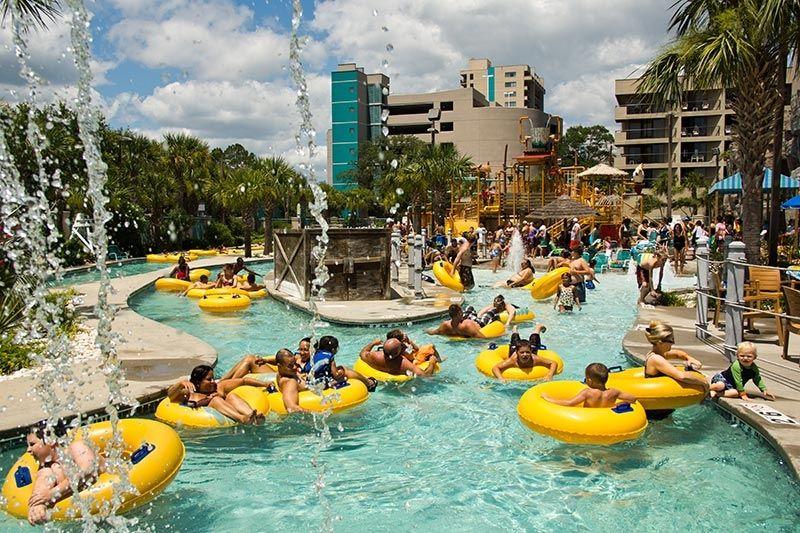 Myrtle Beach Sands Resort water park, beach access