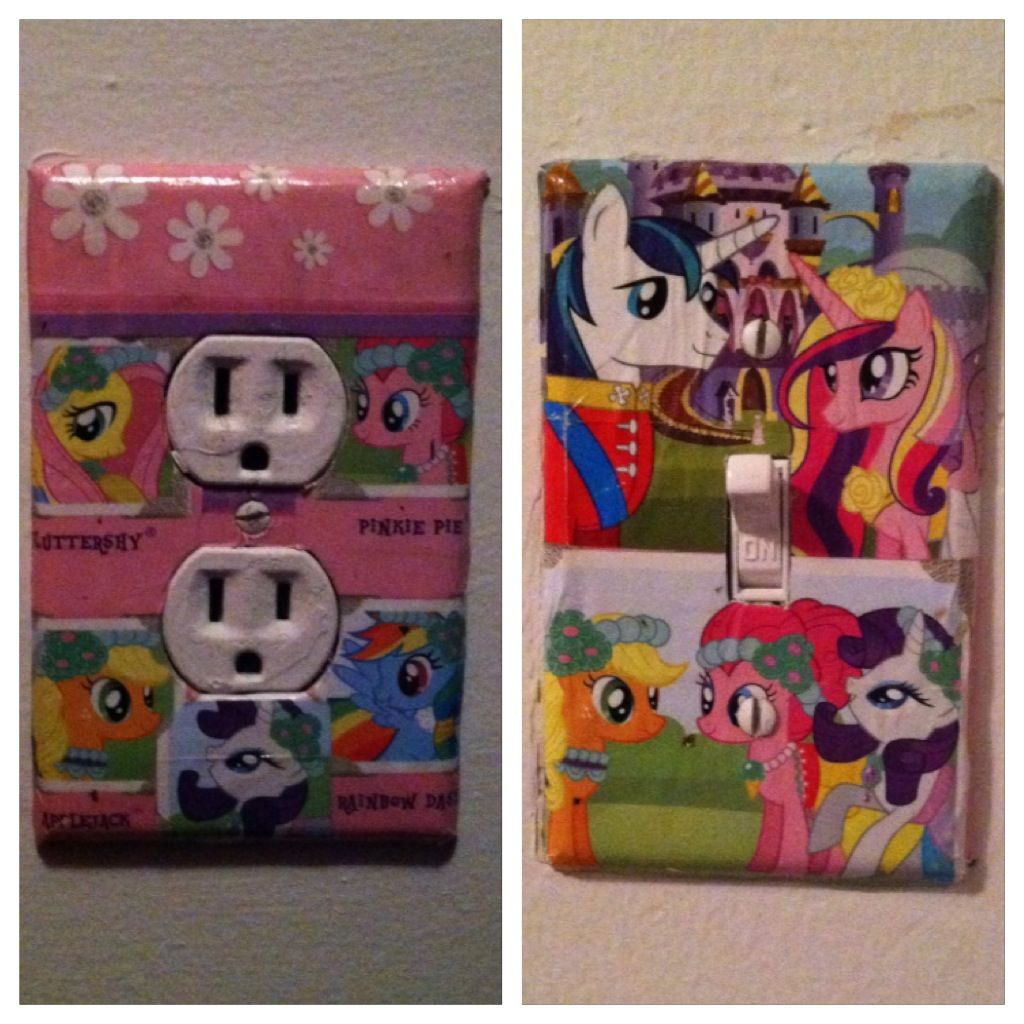 Did Some Modge Podge Today For The Girls My Little Pony Room Turned Out Super