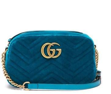 6f888126 Gucci - Gg Marmont Quilted Velvet Cross Body Bag - Womens - Green ...