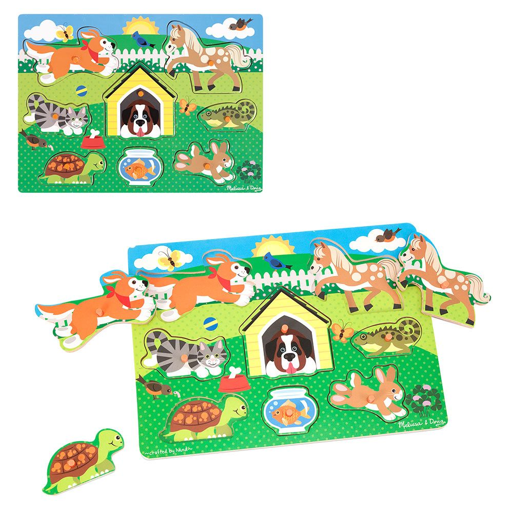 Friendly Pets Peg Puzzle at The Animal Rescue Site