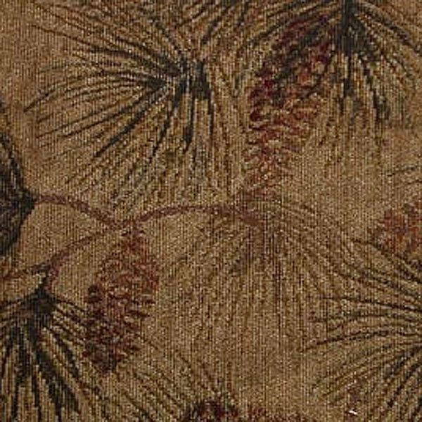 Upholstery White Pine Sage Fabric Mountain Lodge Cabin Branch Pinecone  Furniture