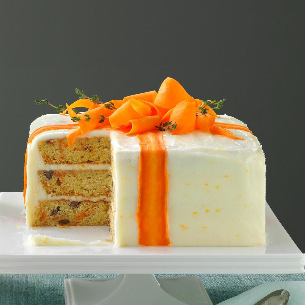 Three Layered Carrot Cake Recipe Easy Cake Decorating Carrot