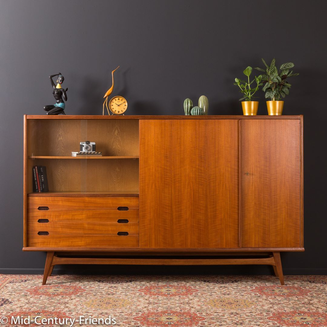 Mid Century Furniture On Instagram Classic Highboard From The 1950s Made In Germany Scandinavian Furniture Rustic Bedroom Furniture Mid Century Furniture