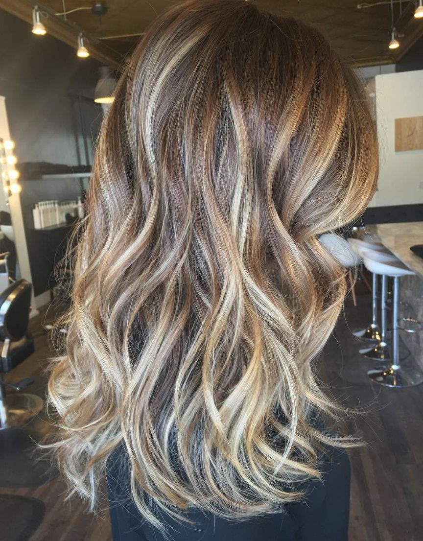 flattering balayage hair color ideas for haircuts