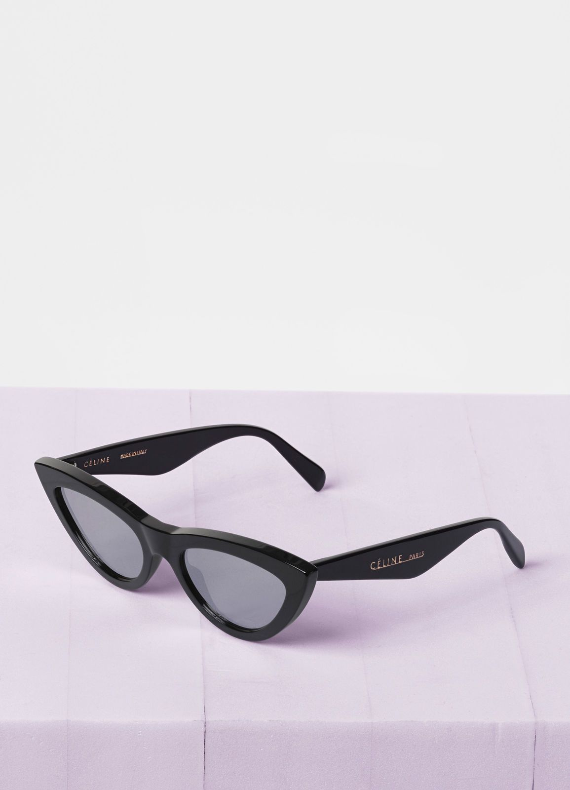 620e3f80c6d Céline - Black Cat Eye sunglasses in acetate with mirror lenses ...