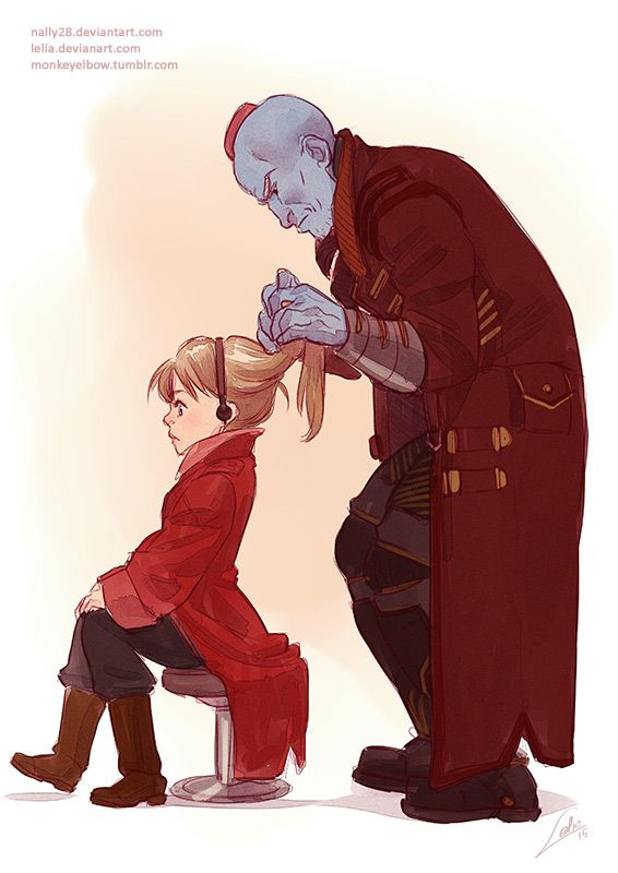 If Peter had been a girl I'd love to see Yondu attempt to braid her