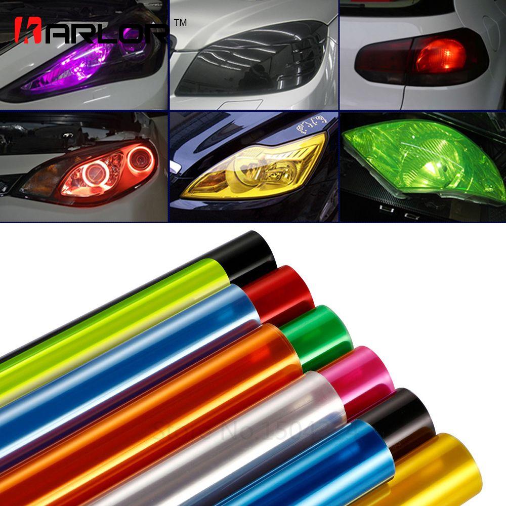 Car Styling 30cmx150cm Auto Car Light Headlight Taillight Tint Styling Waterproof Protective Vinyl Film Sticker Car A Car Accessories Car Lights Car Headlights