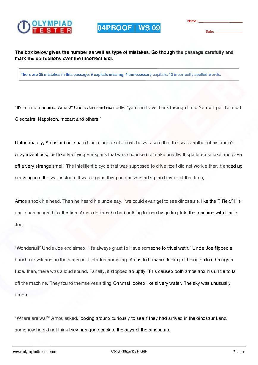 Download Class 4 English Grammar PDF worksheets from