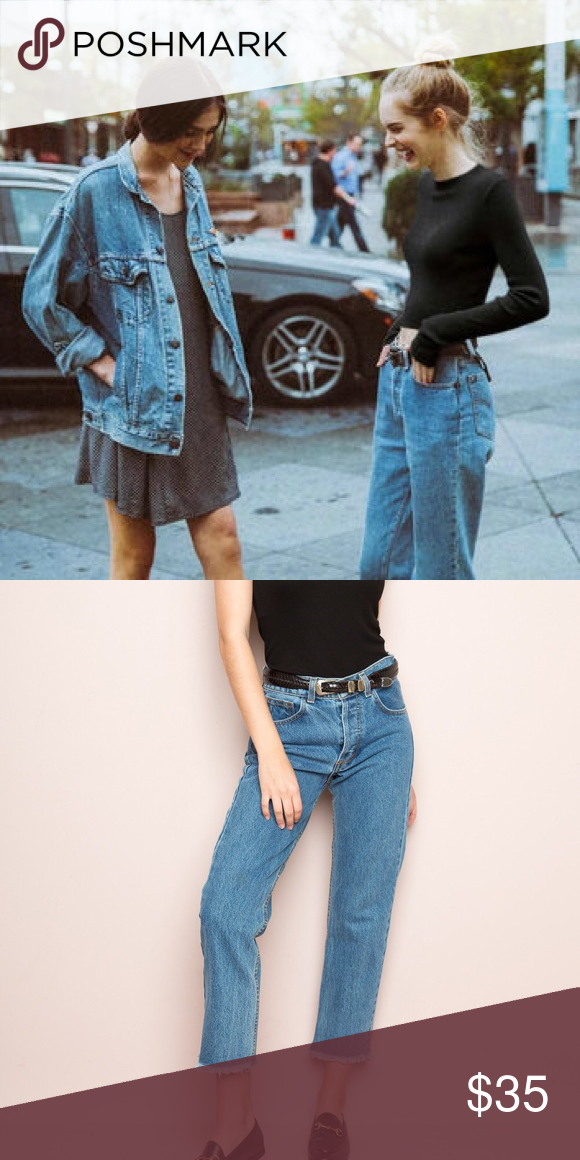 2fa025a9ee6 Brandy Melville Danny Denim John galt jeans. I'm not sure which type they  are. They have a bit of damage to the right leg bottom seam but it's not  that ...