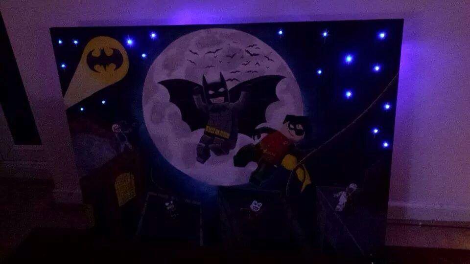 4 ft by 3ft Lego batman wall art with led lights   Hop Scotch ...