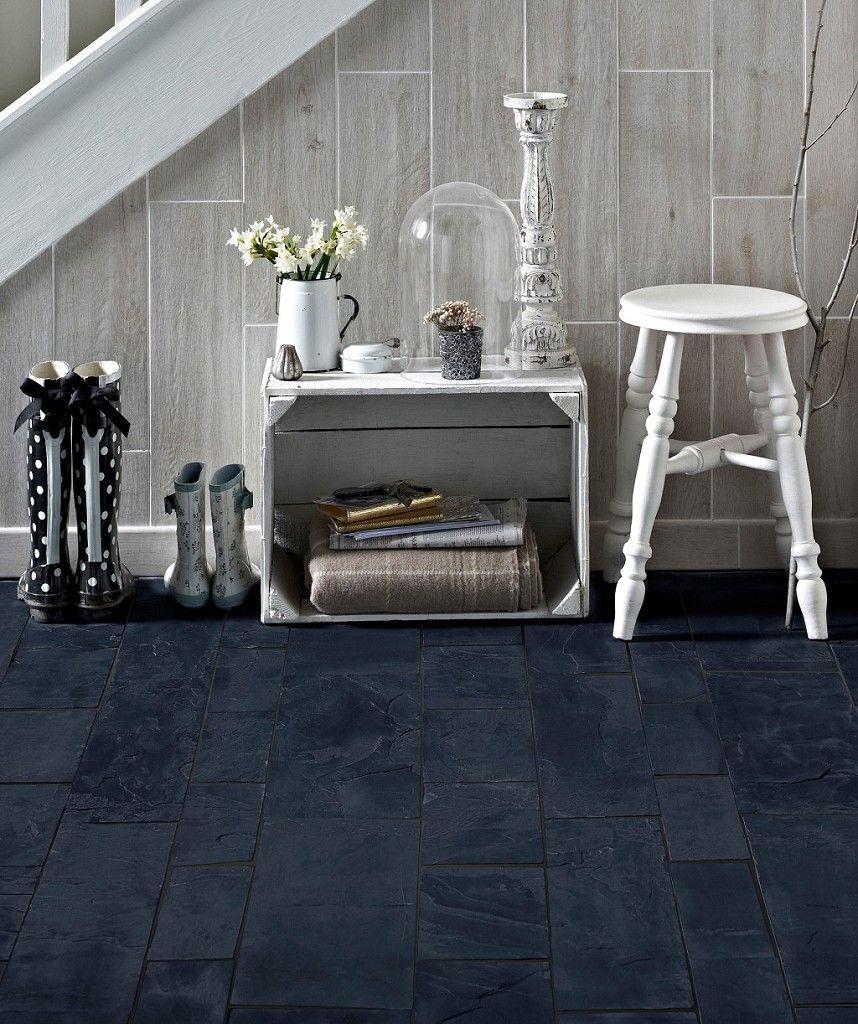 Black Slate Calibrated Modular Tile | Topps Tiles | Shower tiles ...