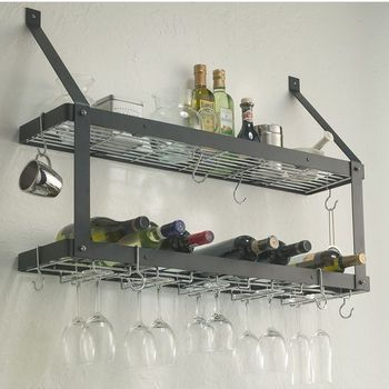 Rogar Estate Wall Mount Double Wine/Shelf Racks #kitchensource #pinterest #followerfind