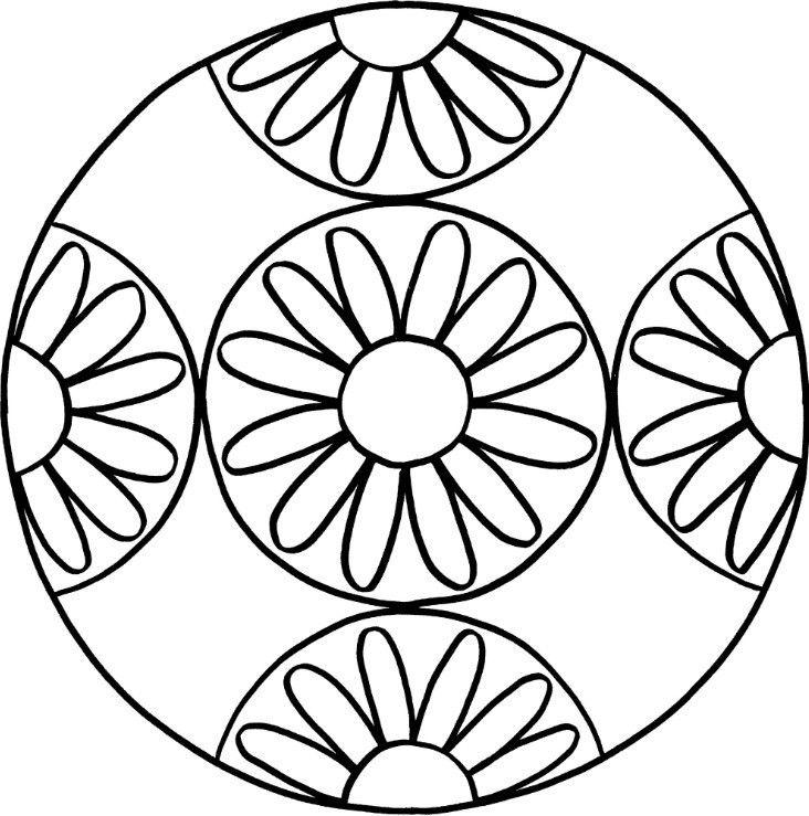 Mandalas Zum Ausdrucken Tolle Blumen Mandala Vorlage Zum Ausmalen