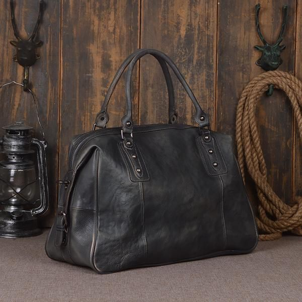 6e90a35759 Leather Duffel Bag for Men and Women Travel Luggage Gym Tote Bag 9029 -  ROCKCOWLEATHERSTUDIO