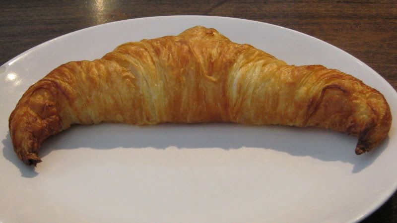 A horny crossiant from The Beat Coffeehouse in Las Vegas.