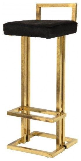 Vintage Brass Bar Stool