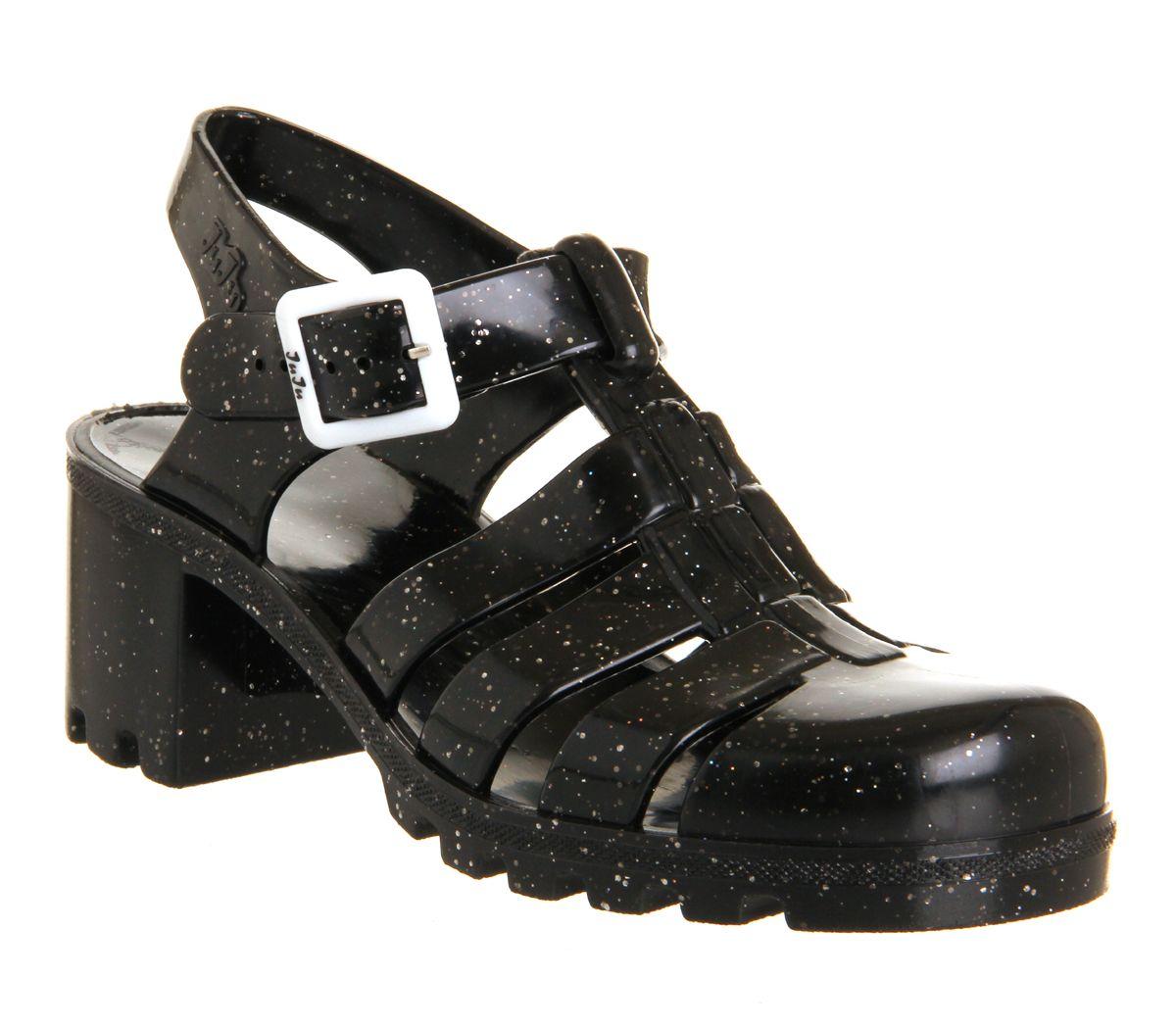 0f2e4f4be52a JuJu Babe Hi Juju Jelly Black Glitter Exclusive - Sandals