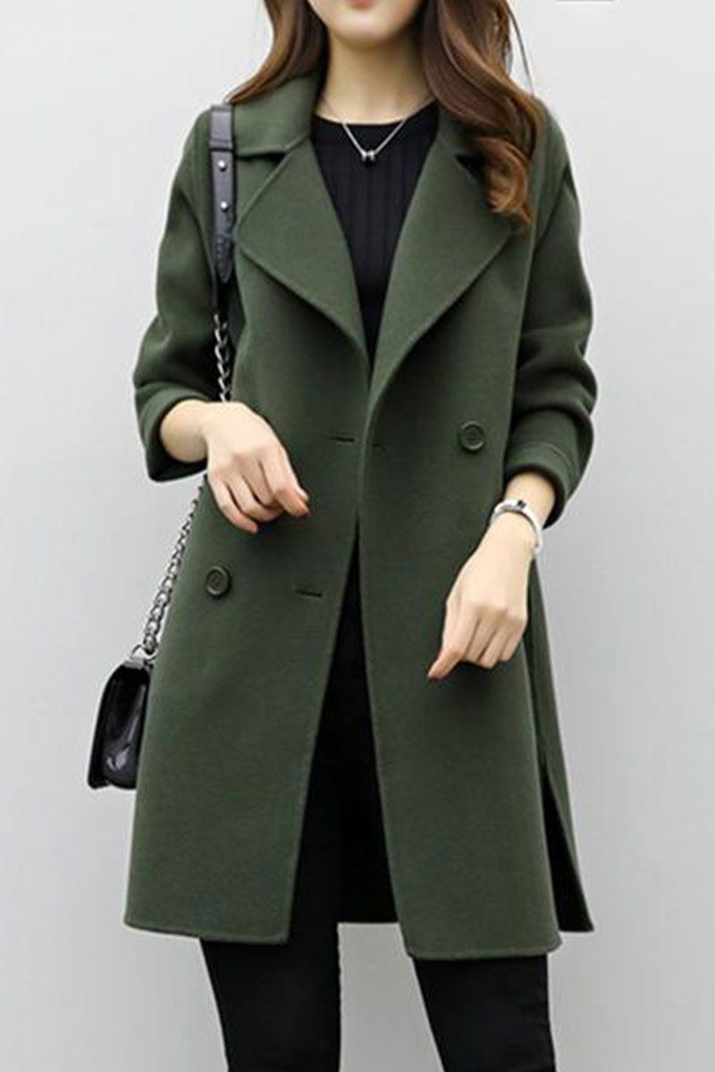Womens Winter Warm Slim Coat One Button Trench Overcoat Jacket Outerwear Tops
