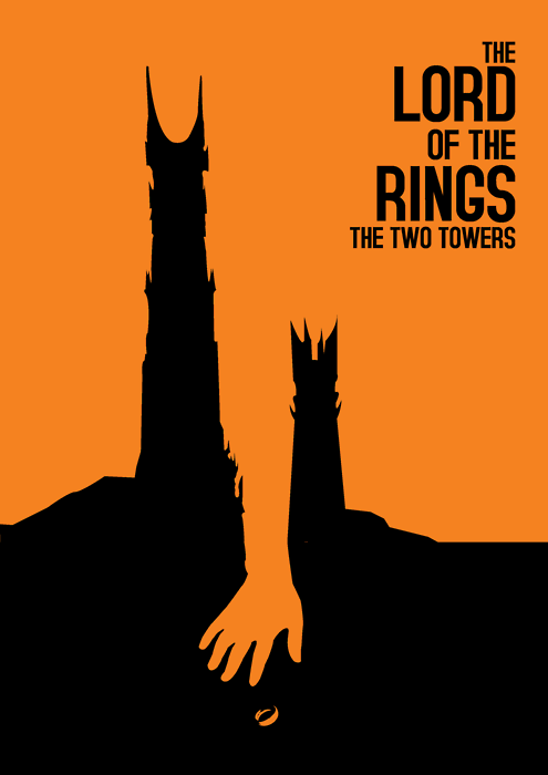 The Lord Of The Rings The Two Towers 2002 Minimal Movie Poster By Kittitath Tanyavanish With Images Movie Posters Minimalist Minimal Movie Posters The Two Towers