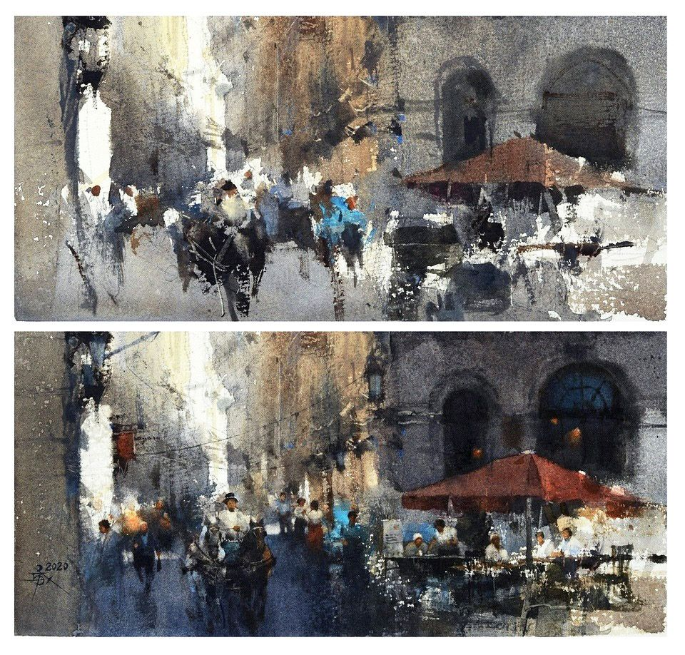 Chien chung wei painter should work hard to manage the