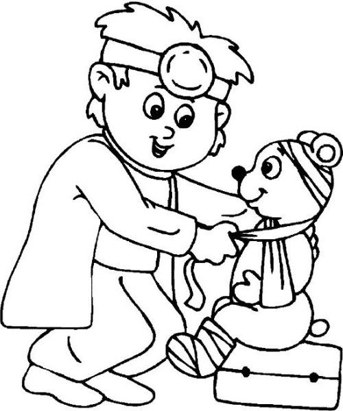 Diligent Doctor Coloring Page Nursing Coloring Pages Hospital