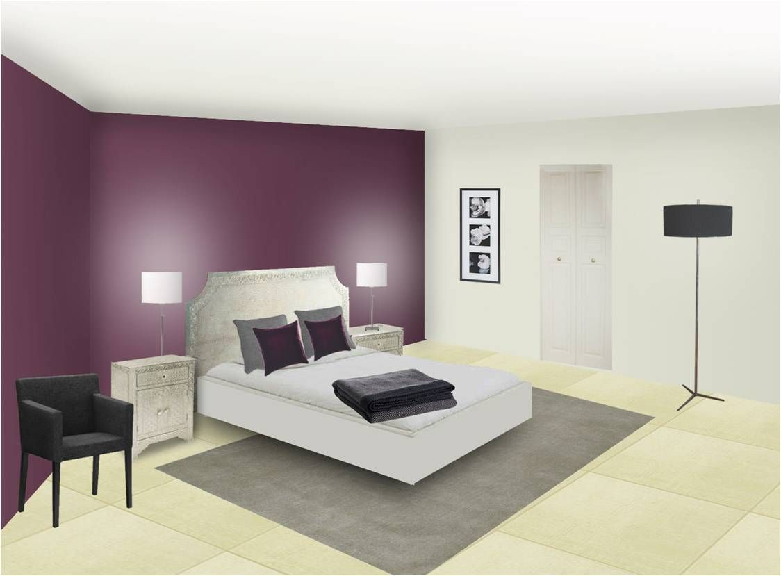 D coration couleur prune mh deco le blog maison for Deco peinture chambre parents