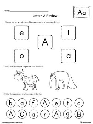 All About Letter A Printable Worksheet Printable Worksheets