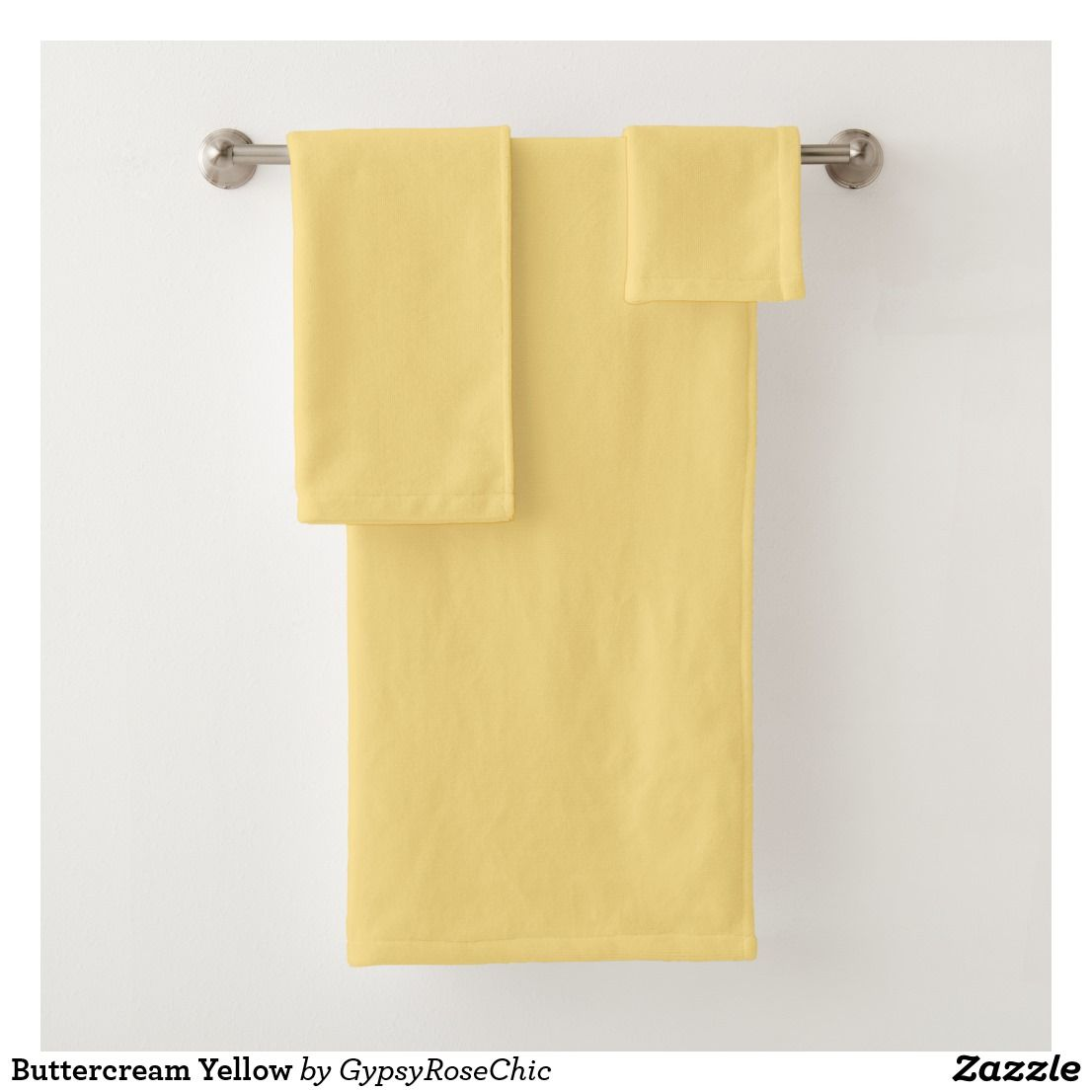 Buttercream Yellow Bath Towel Set Zazzle Com Orange Bath Towels Yellow Bath Towels Bath Towels