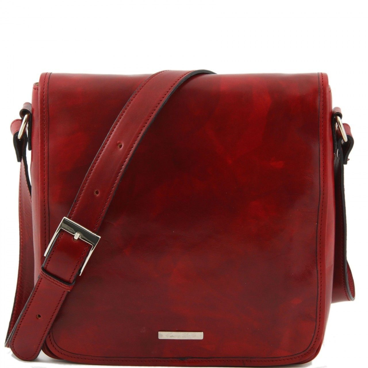 Love Leather Travel Bag - Freestyle Leather Messenger Small in Red 089b6f40414c4