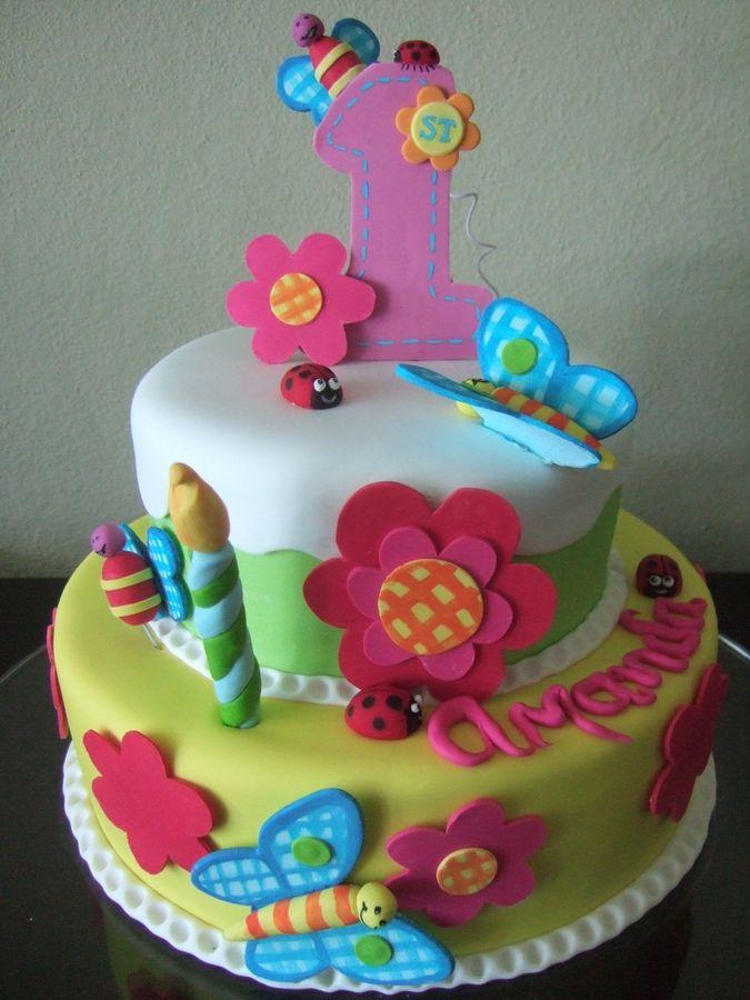 First Year Cake Childrens Birthday Cakes Pasteles Para