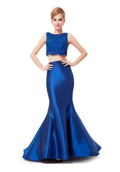 Vestidos noche azul electrico