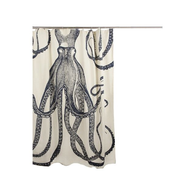 Thomas Paul 72 Octopus Shower Curtain Exclusive Ink 120