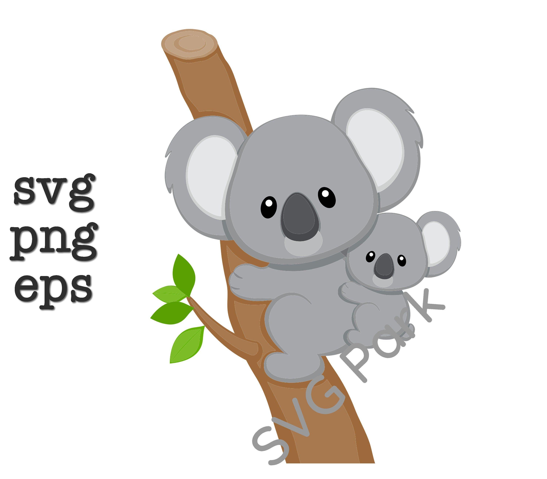 Koala Svg Png Eps Etsy In 2021 Koala Drawing Koalas Koala