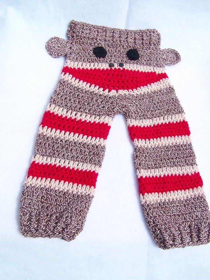 Sock Monkey Butt Pants Crochet Creation By Doneldas Creations