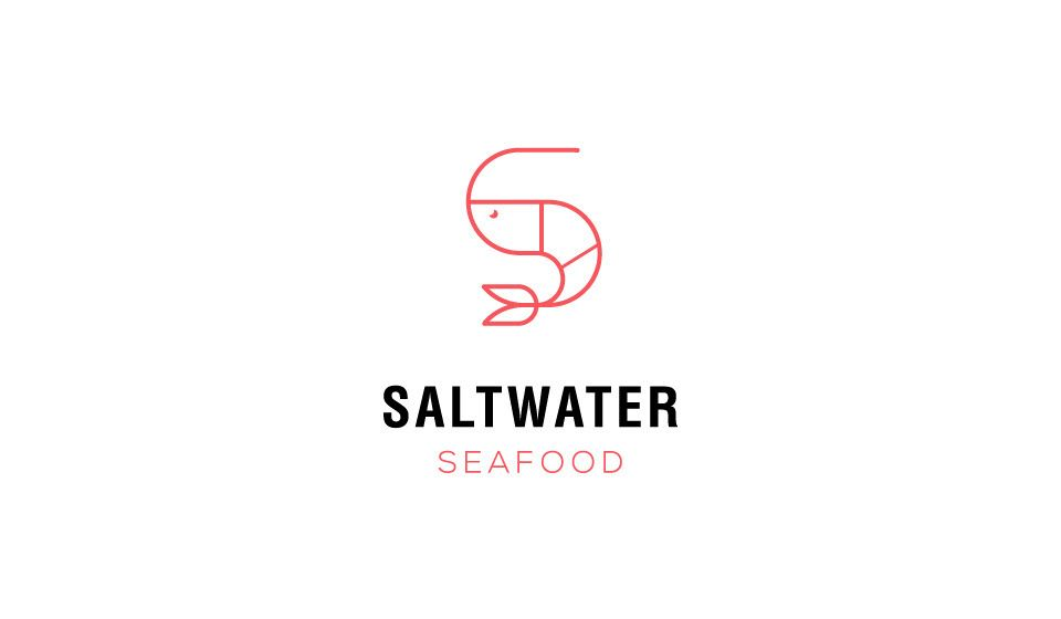 Saltwater Seafood Restaurant Logo Branding On Behance Tuk