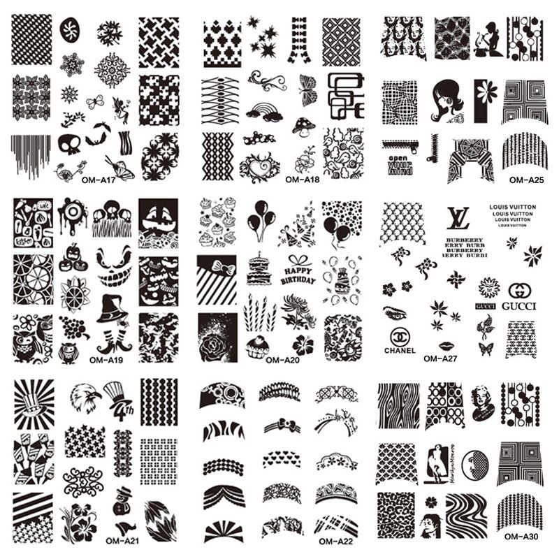 1pcs New Sexy Design Square Nail Art Stamping Plates Finger Stencil