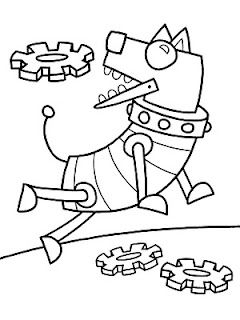 Robot Dog With Images Dog Coloring Page Coloring Pages