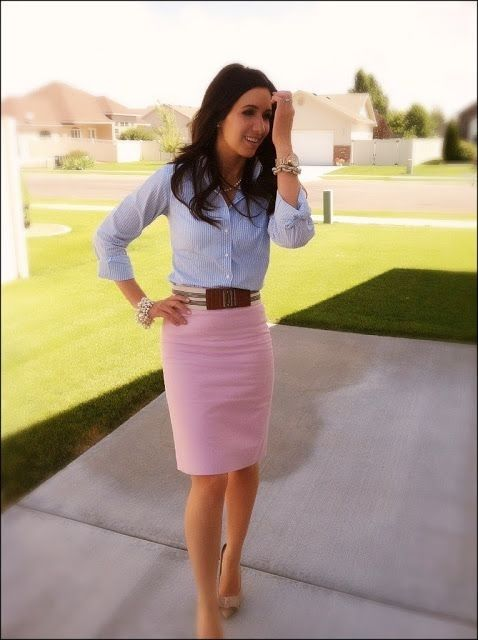 Pink Pencil Skirt - 44 Professional and Sophisticated Office ...