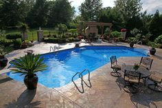 Lazy L Shaped Pool 050613 Luxury Swimming Pools Pool Designs