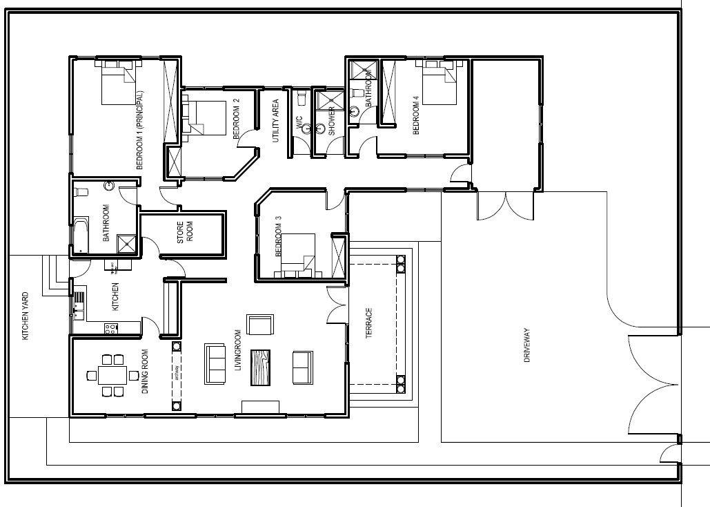 ghana house plans abeeku house plan - Ground Floor Plans House
