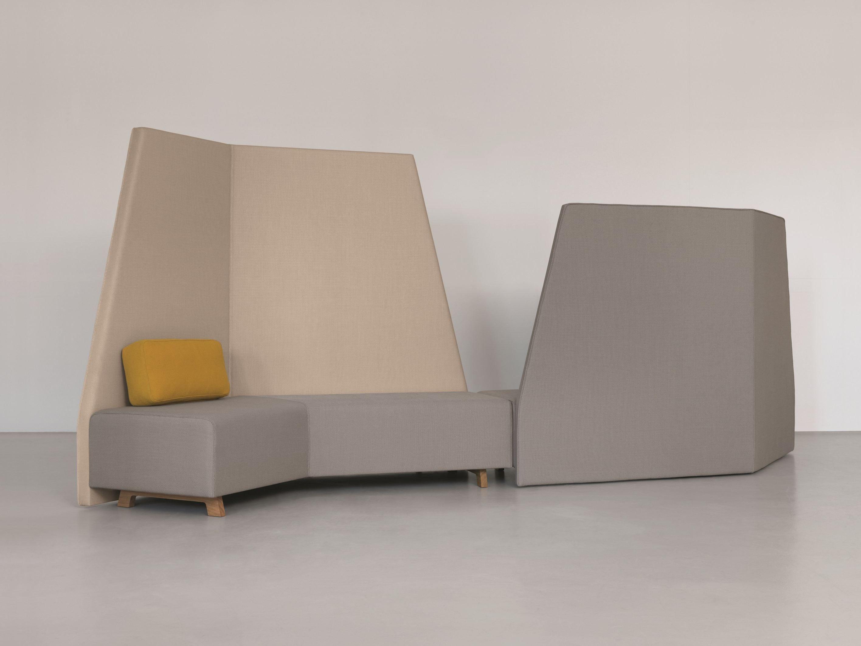 Sectional High Back Sofa Side Comfort Backrest By Zeitraum Design