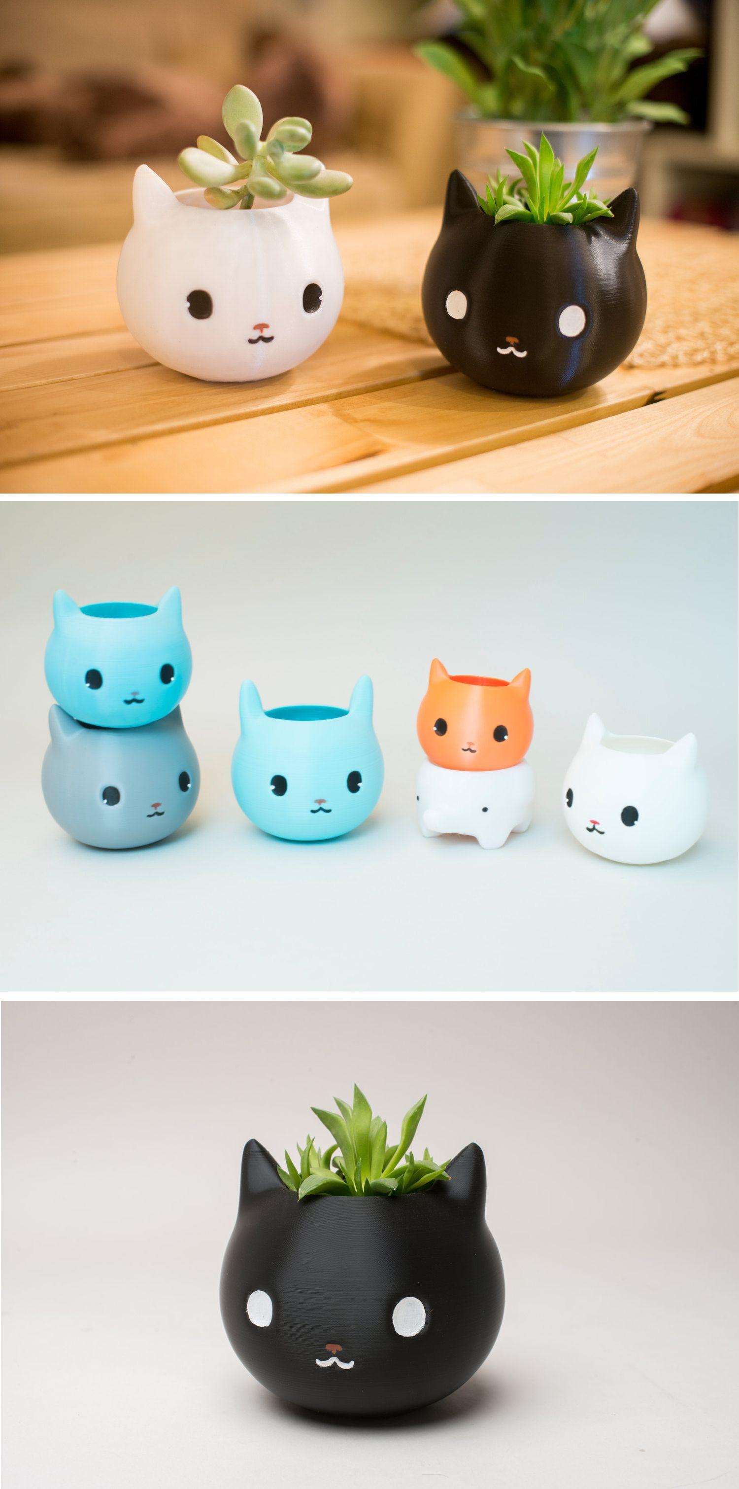 Pour décorer les bacs à plantes / Cat Planter Artesanato