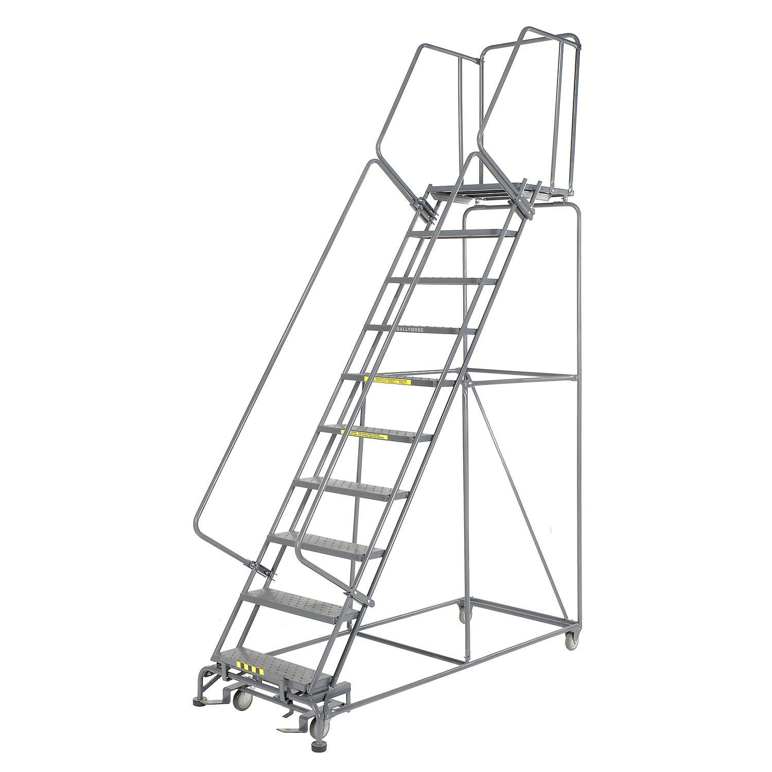 Ladders Rolling Steel Ladders Perforated 24 Quot W 10 Step Steel Rolling Ladder 21 Quot D Top Step 607374 Globalin In 2020 With Images Rolling Ladder Ladder Plumbing Pumps