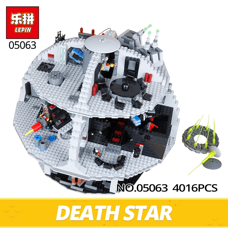 183.50$  Watch here - http://aliilc.shopchina.info/go.php?t=32810594726 - LEPIN Star Wars 2016 New Genuine UCS Death Star Rogue One 05063 4016pcs Model Building Blocks Brick Toys Gifts Compatible 79159 183.50$ #buyonline