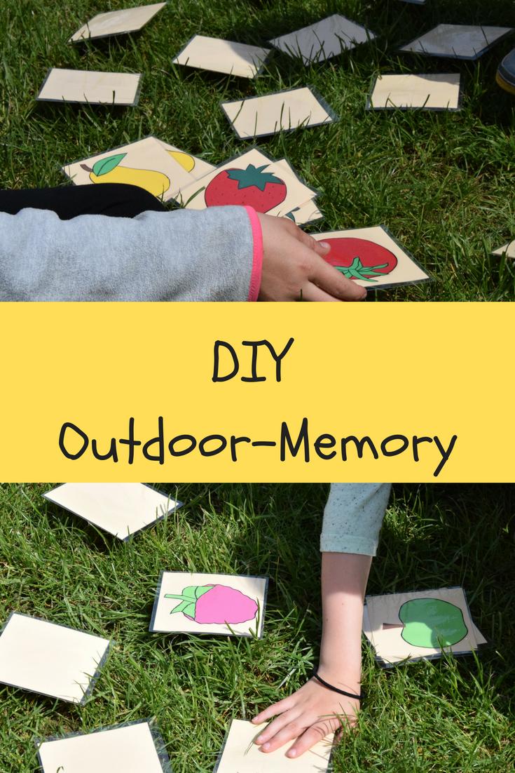 Diy Spiele Fur Den Garten Ein Outdoor Memory Fur Kinder Selber Machen Perfek In 2020 Diy Spiele Spiele Im Garten Outdoorspiele Kinder