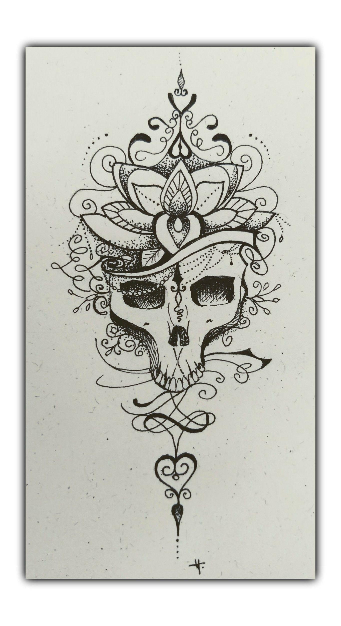 Caveira Mydraw Desenho Nanquim Tattoo Art Myarte Arte Skull